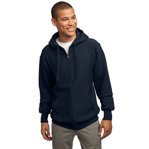 Printed Sport-Tek® full-zip hooded sweatshirt