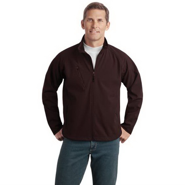 Imprinted Port Authority® textured soft shell jacket
