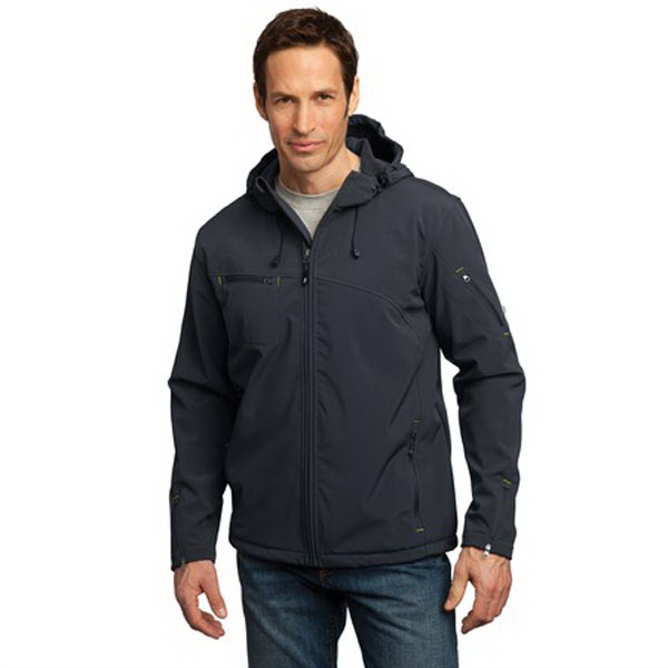 Personalized Port Authority® textured hooded soft shell jacket