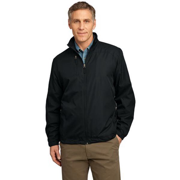 Printed Port Authority® full-zip wind jacket