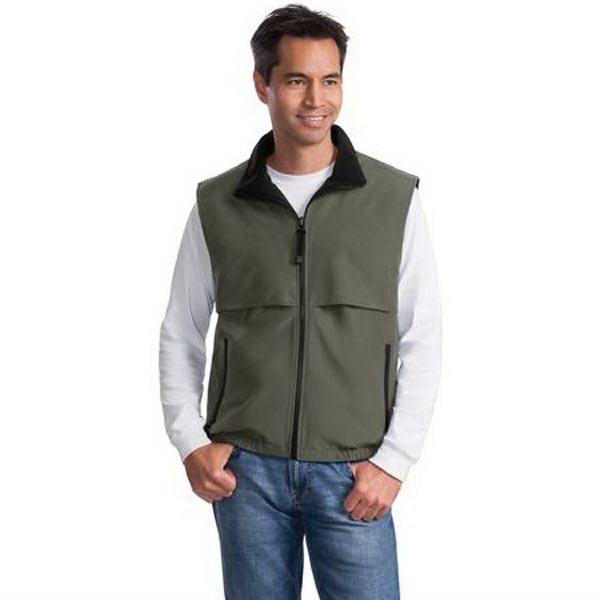 Customized Port Authority® reversible Terra-Tek(TM) nylon/ fleece vest