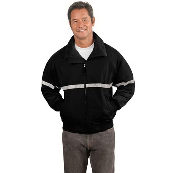 Personalized Port Authority® Challenger jacket with reflective taping