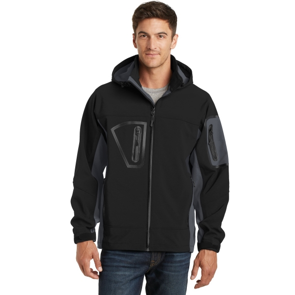Customized Port Authority® waterproof soft shell jacket