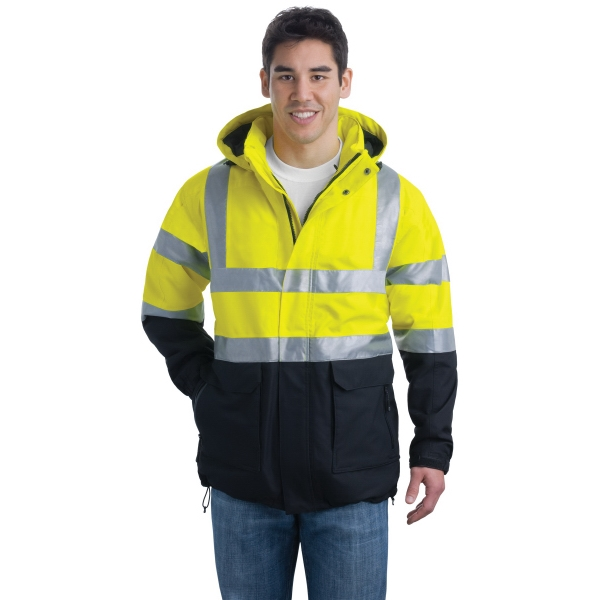 Custom Port Authority® ANSI class 3 safety heavyweight parka
