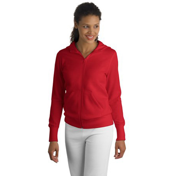 Imprinted Sport-Tek® ladies' zip hooded fleece jacket