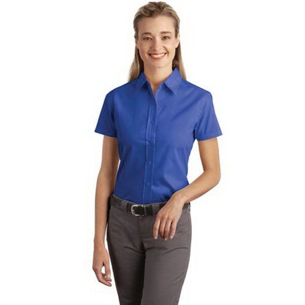 Personalized Port Authority® Ladies short sleeve soil resistant shirt