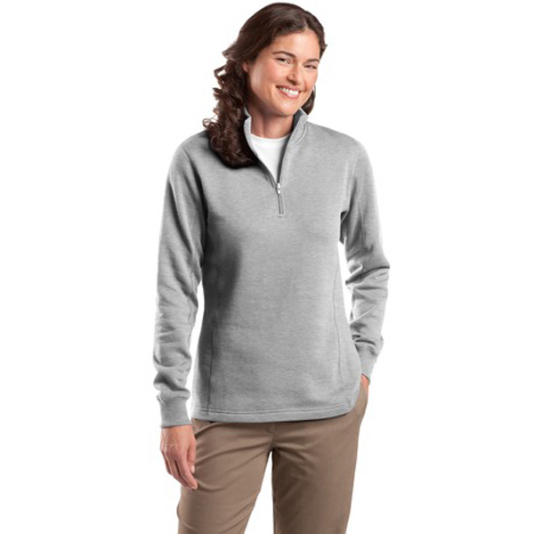 Custom Sport-Tek® ladies' 1/4-zip sweatshirt