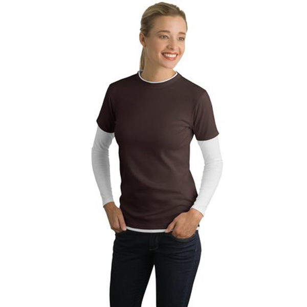 Personalized Sport-tek® ladies' double layer t-shirt