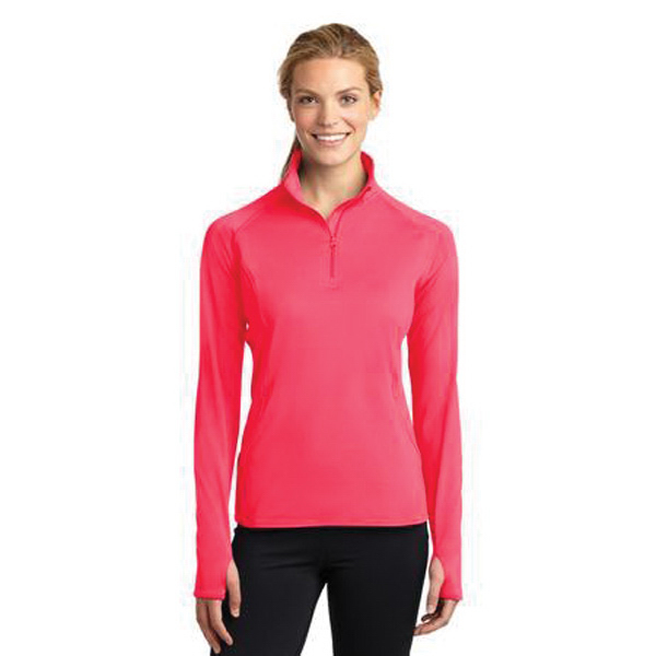 Promotional Sport-Tek® ladies' Sport-Wick® stretch 1/2 zip pullover