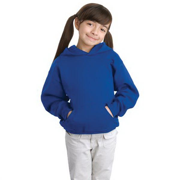 Promotional Hanes® youth Comfortblend® EcoSmart (R) hooded sweatshirt
