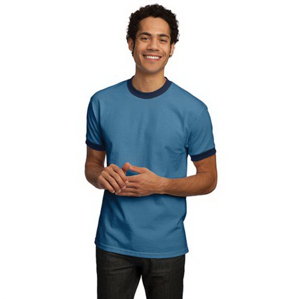 Personalized Port & Company® ringer t-shirt