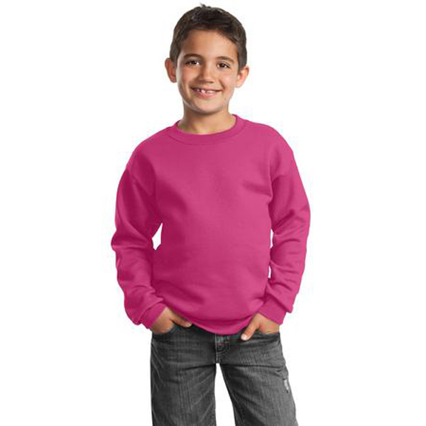 Imprinted Port & Company® youth crewneck sweatshirt