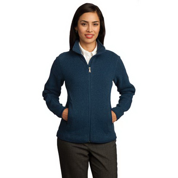Custom Red House® ladies' sweater fleece full-zip jacket