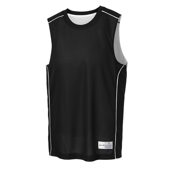 Imprinted Sport-Tek(R) Posicharge Mesh (TM) reversible sleeveless tee