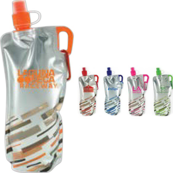 Imprinted 30 oz Lazer Flat Bottle
