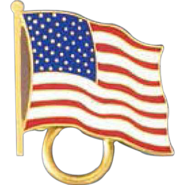 Printed American Flag Pin