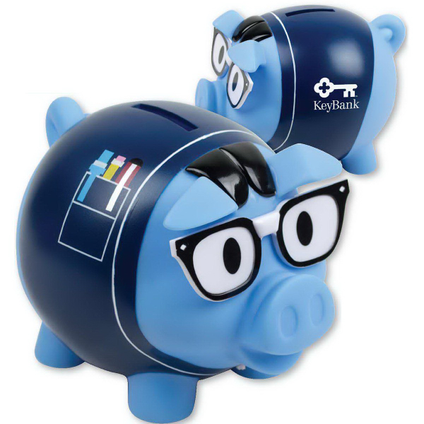 Imprinted Handsome Hal Piggy Bank