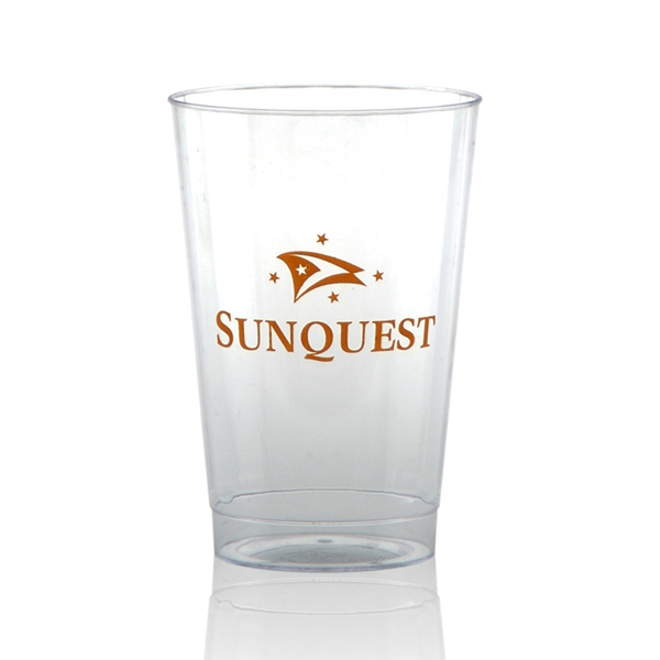 Imprinted Clear Fluted Plastic Cup 12oz