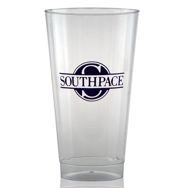 Promotional Clear Fluted Plastic Cup 16oz