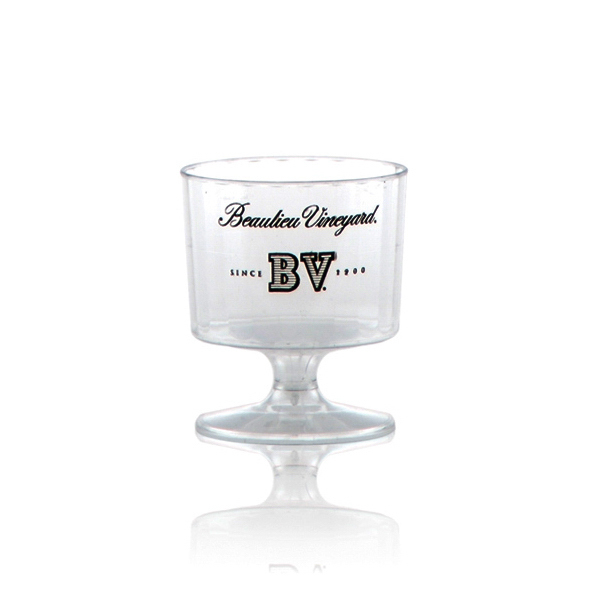 Promotional Clear Fluted Wine Glass 2oz