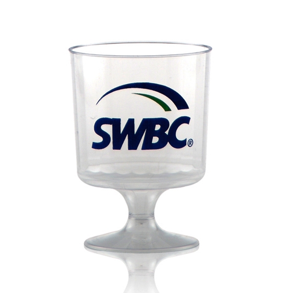 Customized Clear Fluted Wine Glass 5oz