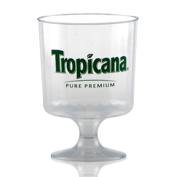 Promotional Clear Fluted Wine Glass 8oz