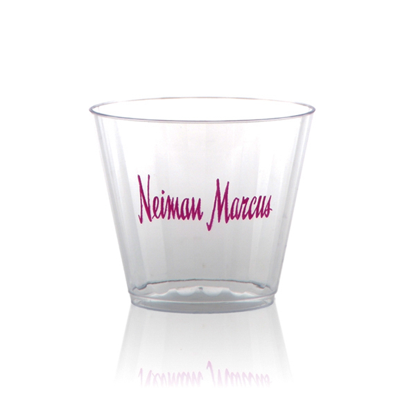 Customized Clear Fluted Rocks Cup