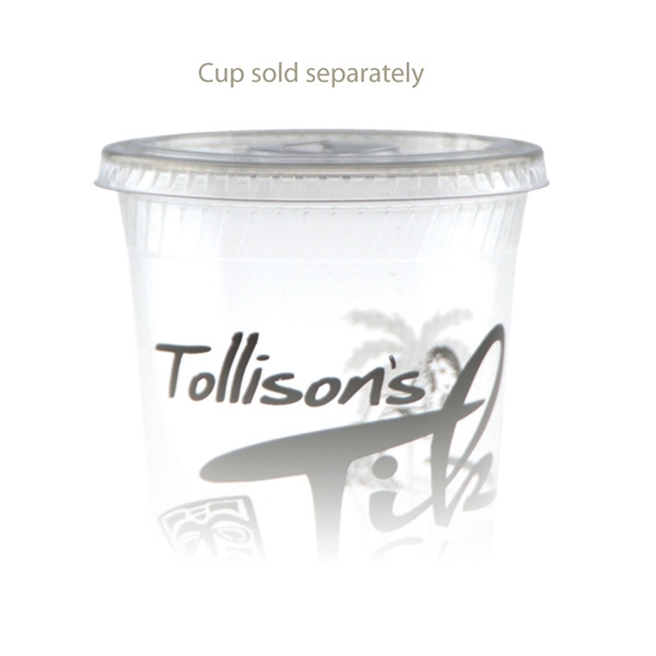 Customized 12 oz Straw Slot Eco-Cold Cup Lid
