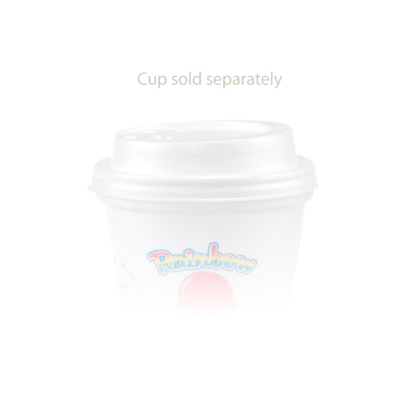 Promotional 8 oz dome lid