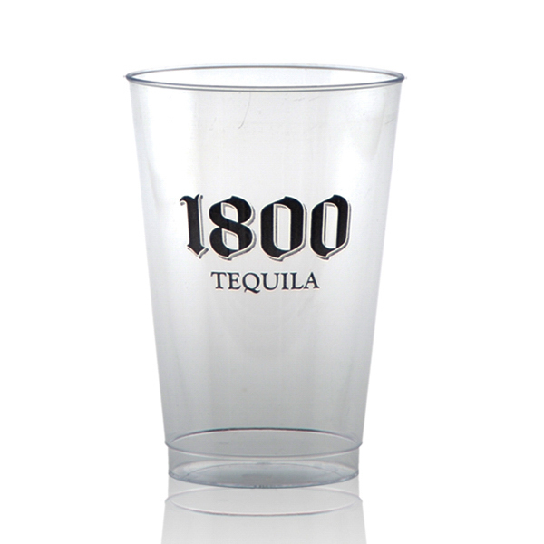 Personalized Offset Clear Plastic Cup 14oz