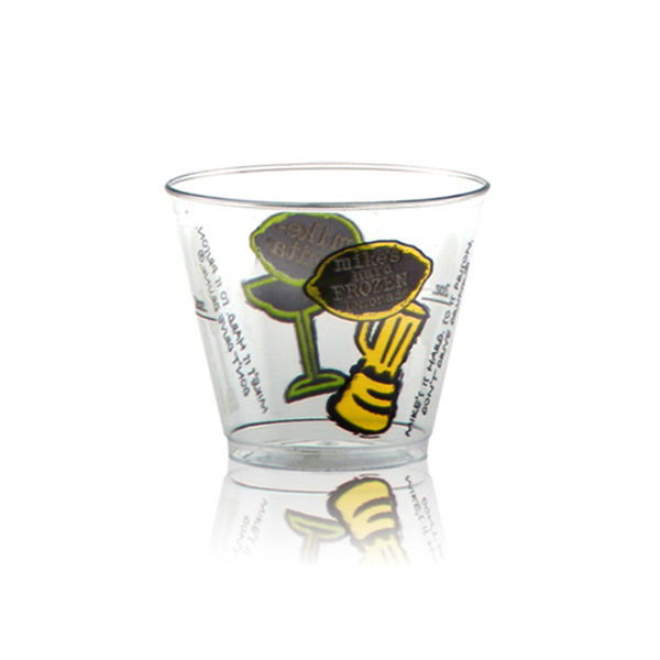 Promotional Offset Clear Plastic Rocks Cup 5 oz