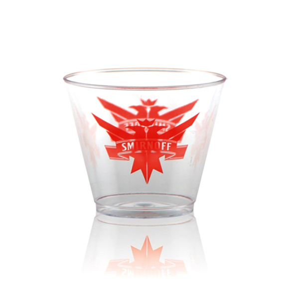 Printed Offset Clear Plastic Rocks Cup 9 oz