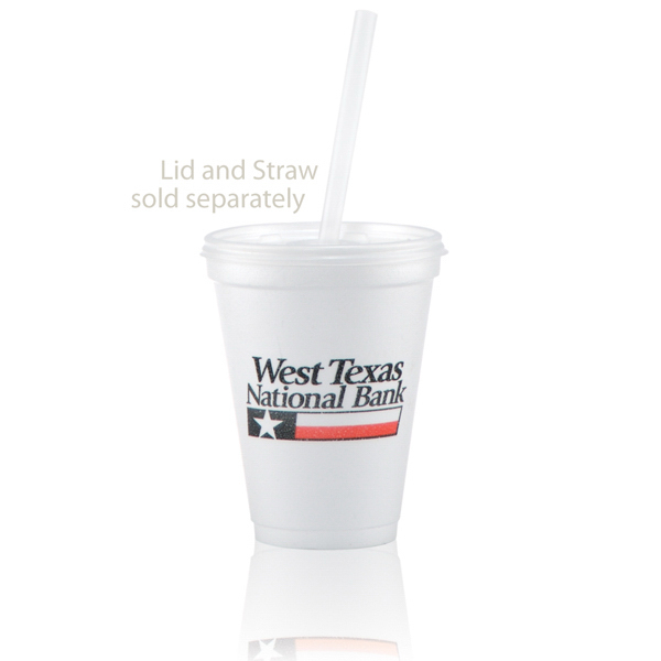 Personalized Offset Foam Cup 12oz