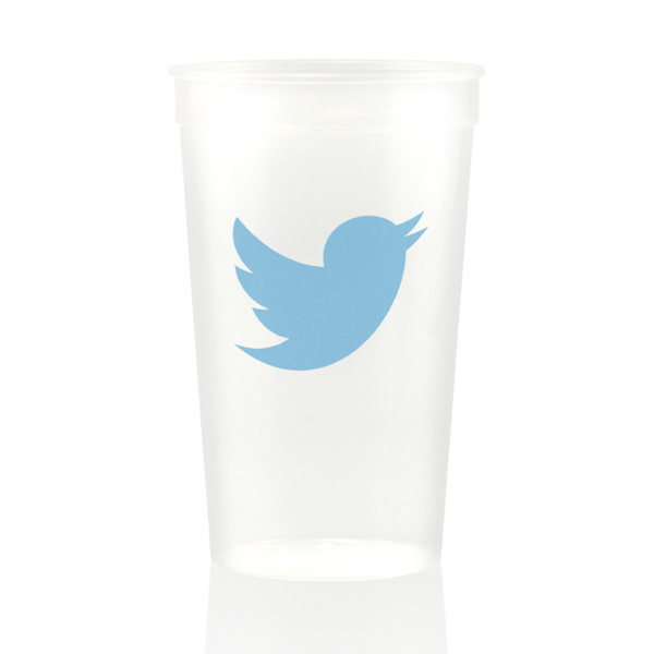 Printed 22 oz. natural/clear Stadium Cup