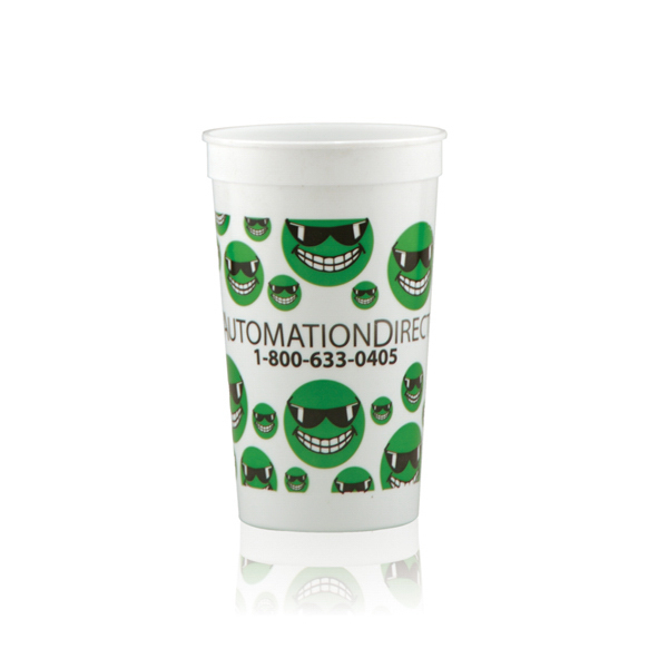 Imprinted Offset Stadium Cup 22oz