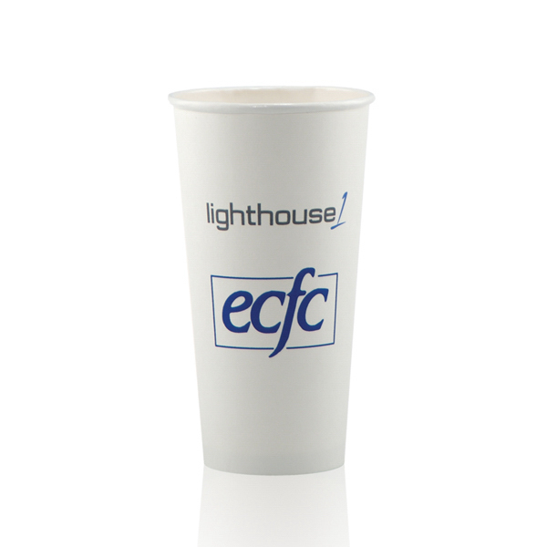 Promotional White Paper Cup 20oz