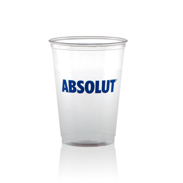 Imprinted 10 oz Soft Sided Clear Cup