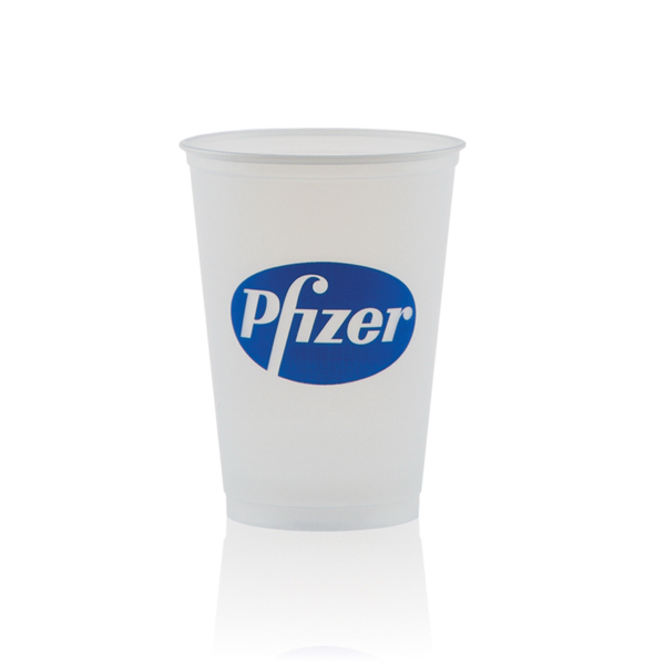 Customized 10 oz Soft Sided Frosted Cup
