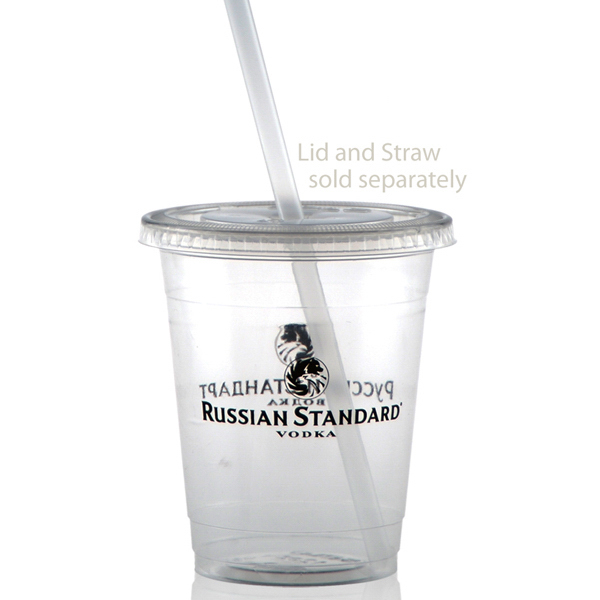 Customized 12 oz Soft Sided Clear Cup