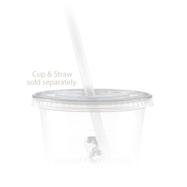 Personalized 12 oz Straw Slot Lid