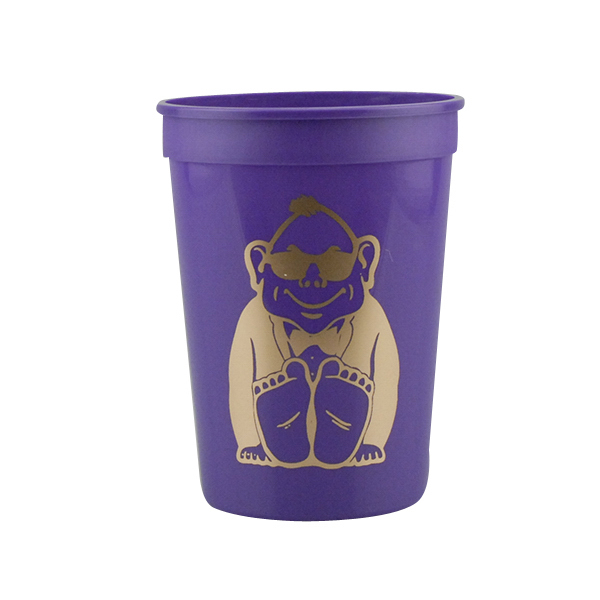 Custom 12oz Stadium Cups Purple