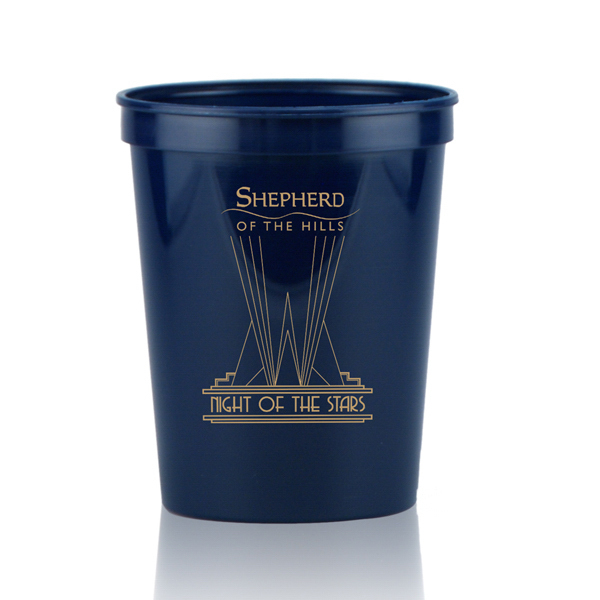 Personalized 16oz Stadium Cups Dark Blue