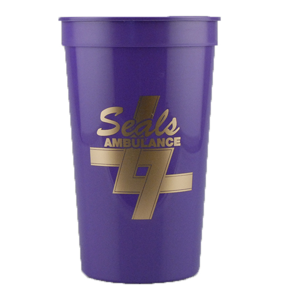 Custom 22oz Stadium Cup Purple