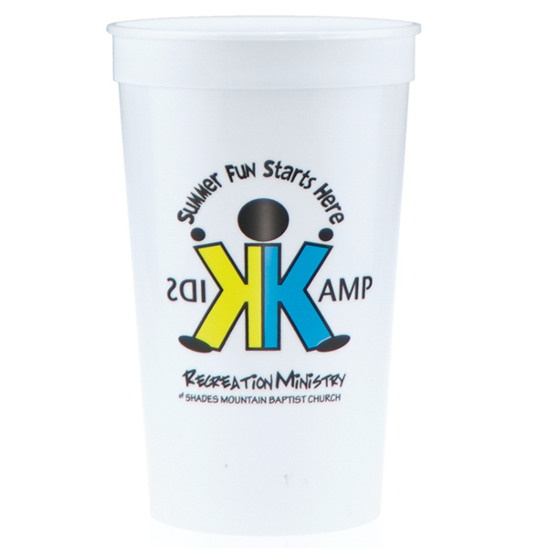 Printed 22oz Stadium Cups White