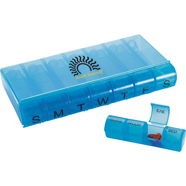 Imprinted 28-Compartment Pill Organizer
