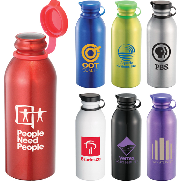 Printed Milk Maid 24-oz Aluminum Sports Bottle