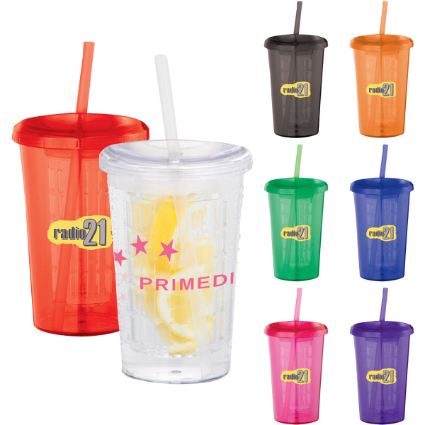 Custom Tutti Frutti 20-oz Tumbler with Straw