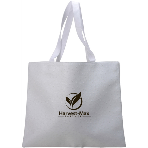 Promotional White Ostrich Tote