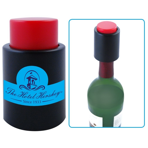 Printed 2 In 1 Bottle Stopper and Vacuum Pump