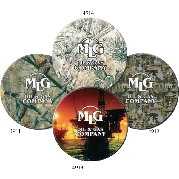 Printed ColorRich (TM) Oilfield Camo (R) Coaster